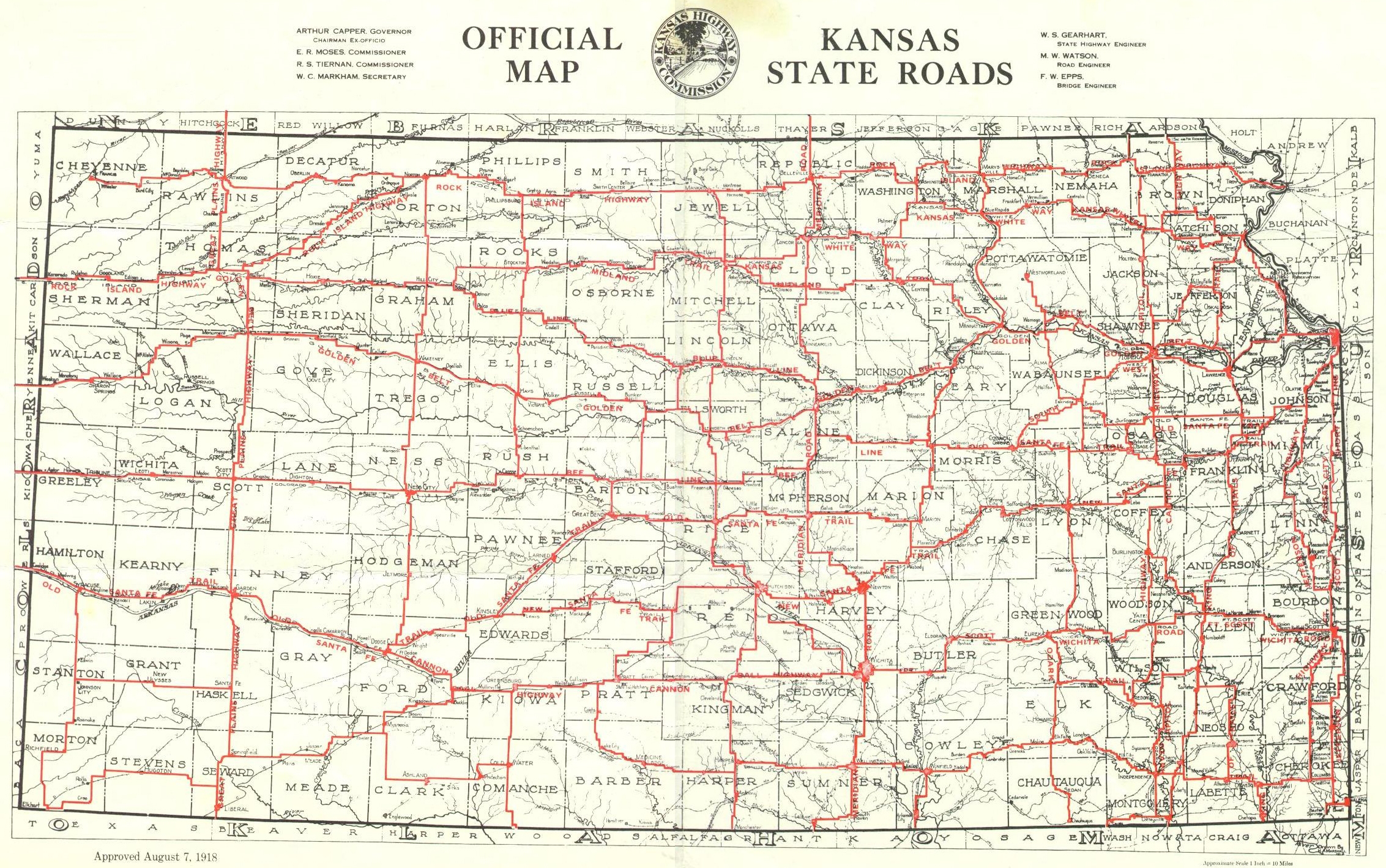 US Route The Golden Belt - Road map of kansas