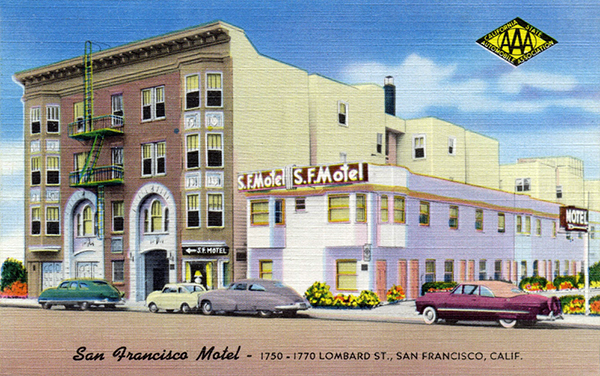 U s route 40 san francisco motor inn san francisco motel for Lombard motor inn san francisco california