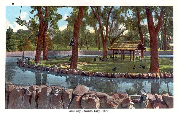 Zoológico de Denver Co-denver-city-park-zoo-c1920