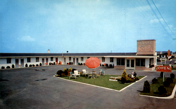 U S Route 40 Cottages Motor Courts And Motels New Jersey