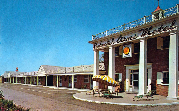 U s route 40 friendship motor inn colonial arms motel for Colonial motors indiana pa